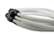 White Braided 6-pin PCI-E Extension