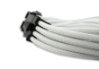 White Braided 6+2 pin PCIe Extension Cable