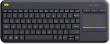 Logitech K400 Plus Black Wireless Touch Keyboard (UK Layout)