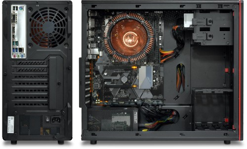 Rear and side view of the Nofan A810a Silent PC