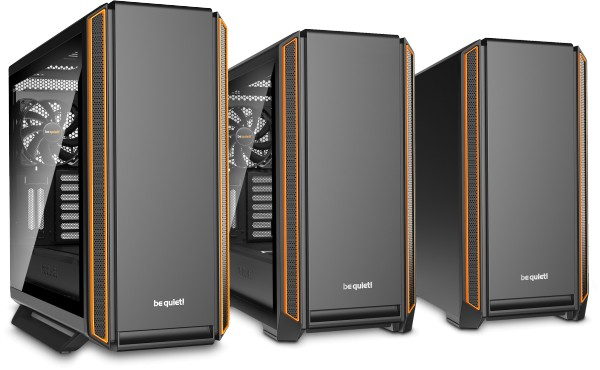 Serenity Pro Gamer is built around either the be quiet Silent Base 801 (left) or 600 (and right) chassis